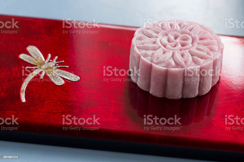 Mooncake For Mid Autumn Festival Asian Holiday Food