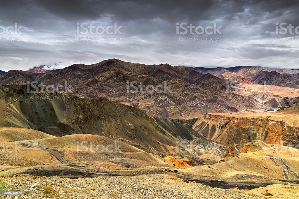 Moonland, Ladakh, Jammu and Kashmir, India stock photo