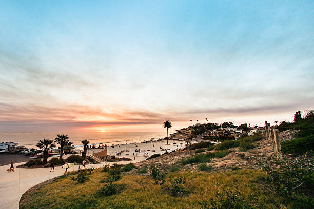 Moonlight Beach stock photo