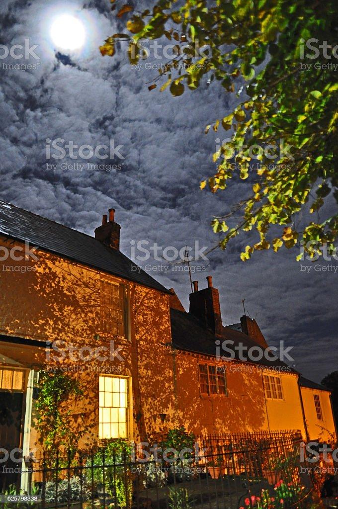 Moonlight in Stourport stock photo