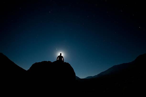 Moonlight Meditation stock photo