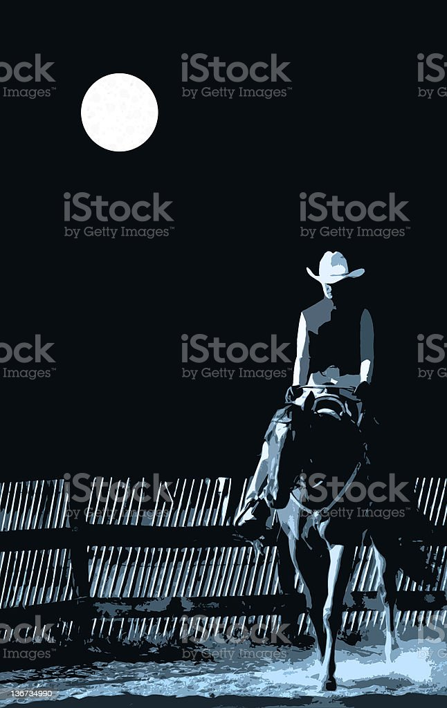 moonlight ride royalty-free stock photo