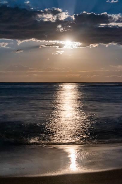 Moonlight Seascape stock photo
