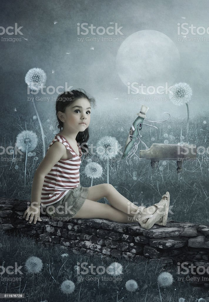 Moonlight Sonata stock photo