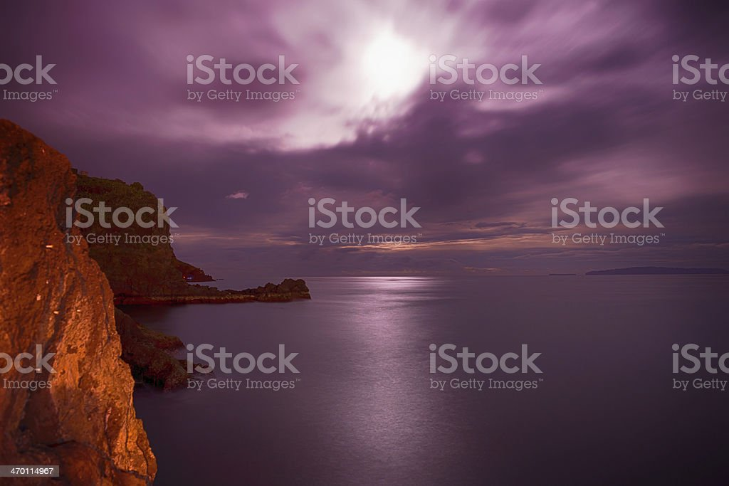Moonlight Madeira . stock photo