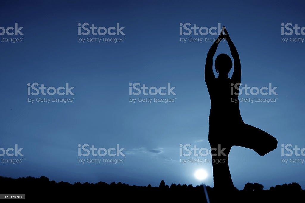Mondschein-yoga – Foto