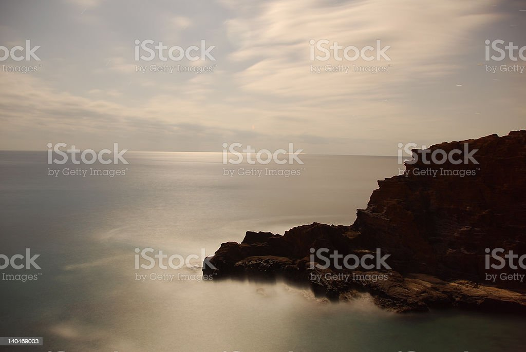 Moonlit Coast stock photo