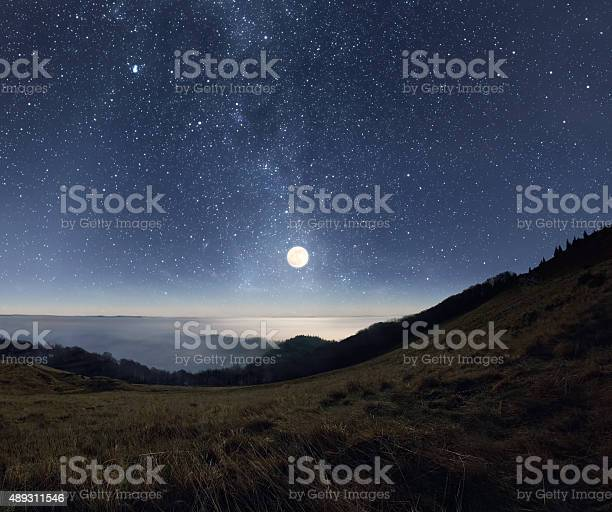 Photo of Moonrise in the mountains