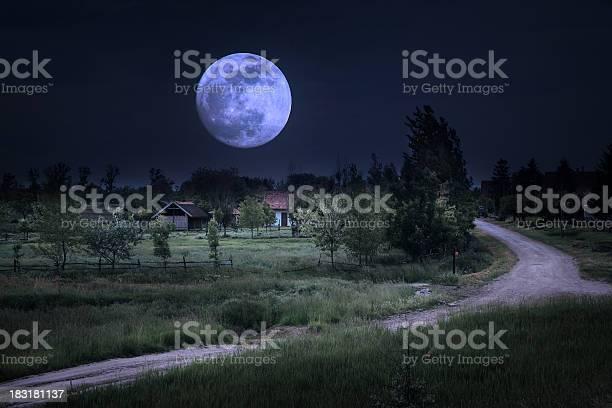 Photo of Moonrise over farm