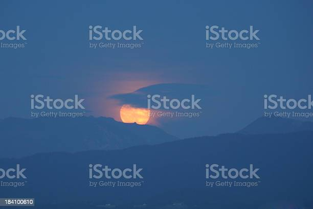 Photo of Moonrise over the mountains