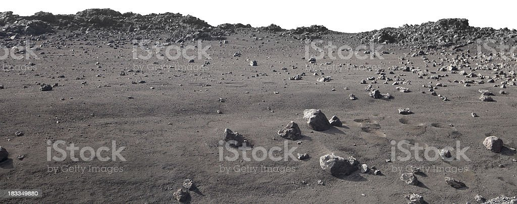 Moonscape landscape on Mauna Kea, Hawaii stock photo