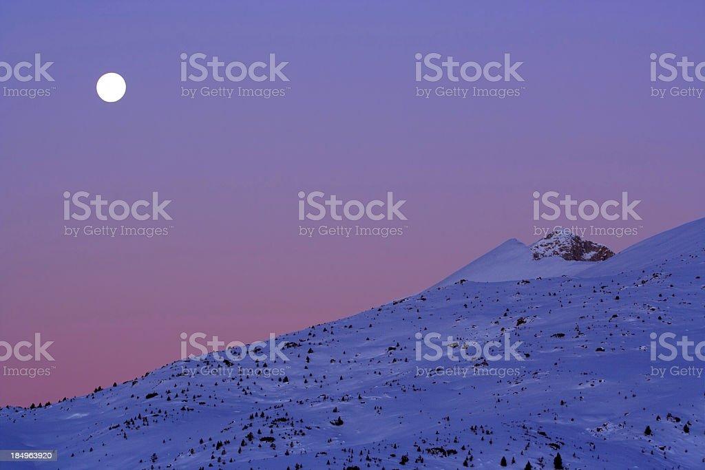 Moonset royalty-free stock photo