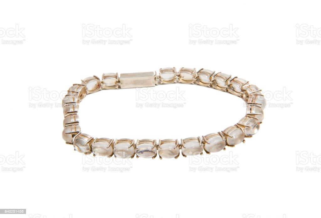 moonstone bracelet stock photo