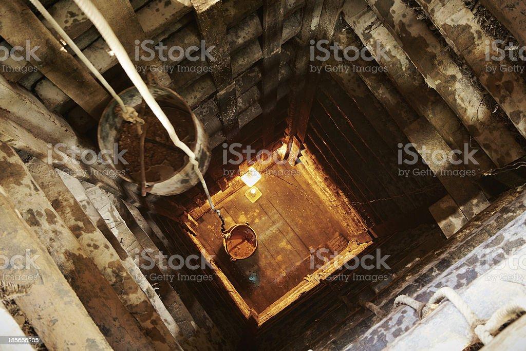 Moonstone mine stock photo