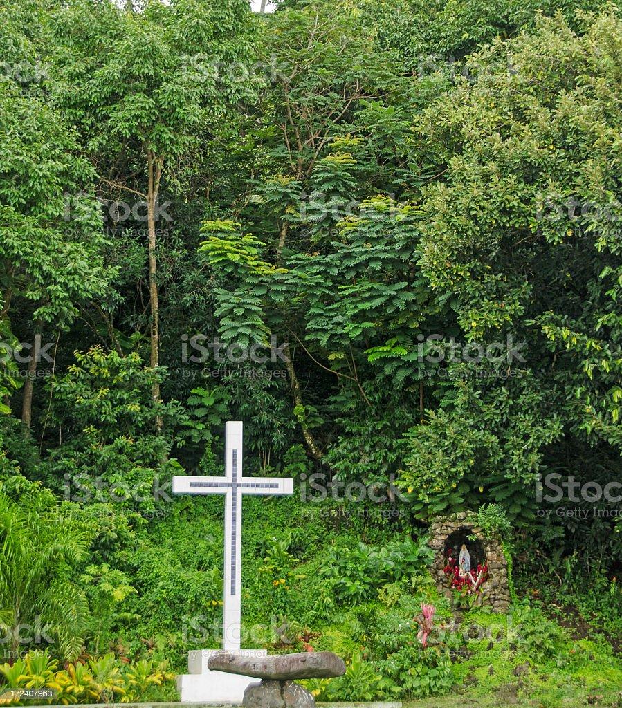 Moorea Church Grotto royalty-free stock photo