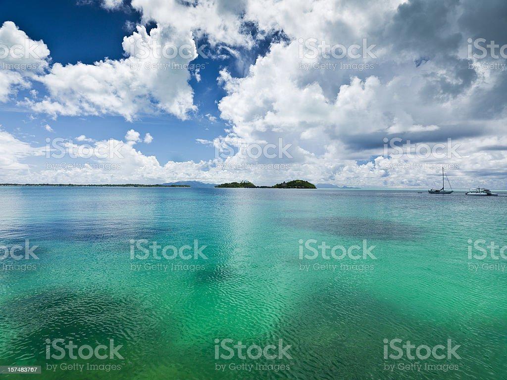 Moorea Island Atoll French Polynesia royalty-free stock photo
