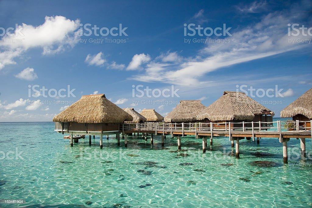 Moorea Overwater Bungalow royalty-free stock photo