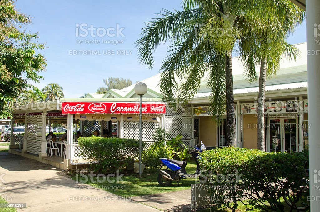Moorea Pastry Cafe royalty-free stock photo