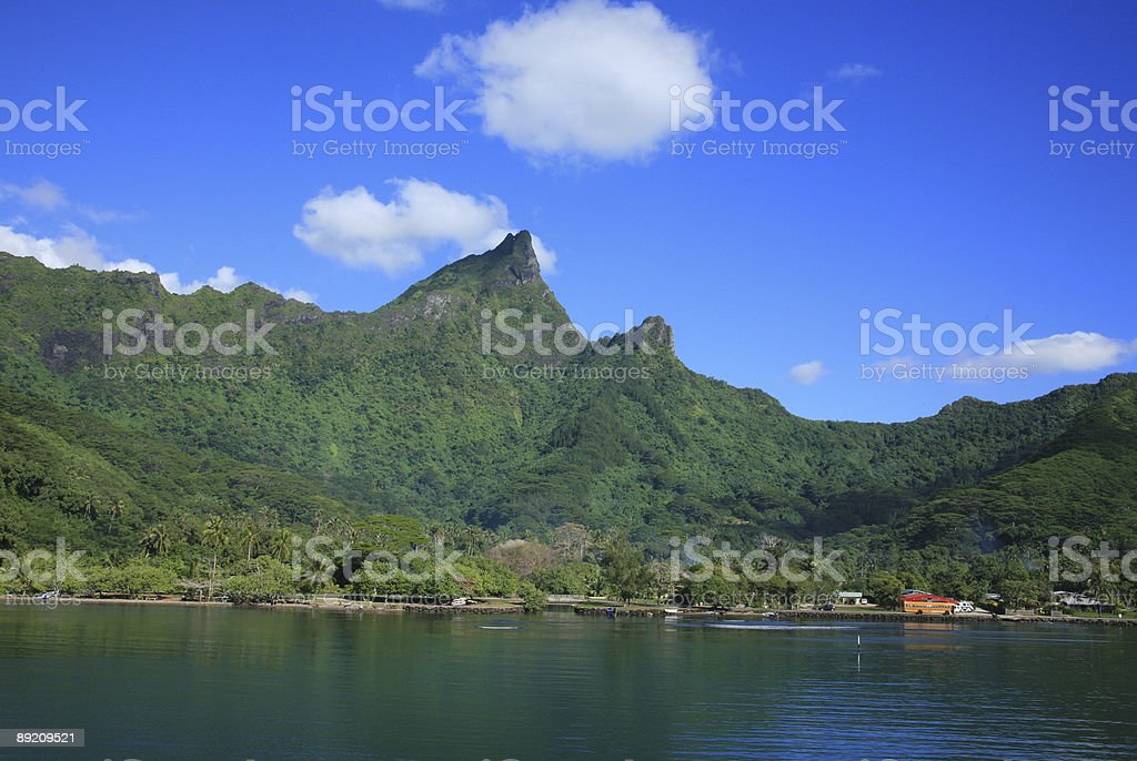 Moorea Peaks of the South Pacific royalty-free stock photo