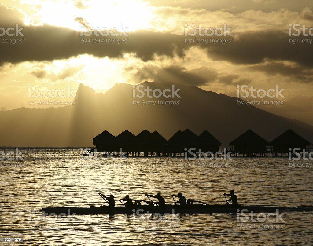 Moorea Sky from a Tahiti Beach - French Polynesia royalty-free stock photo