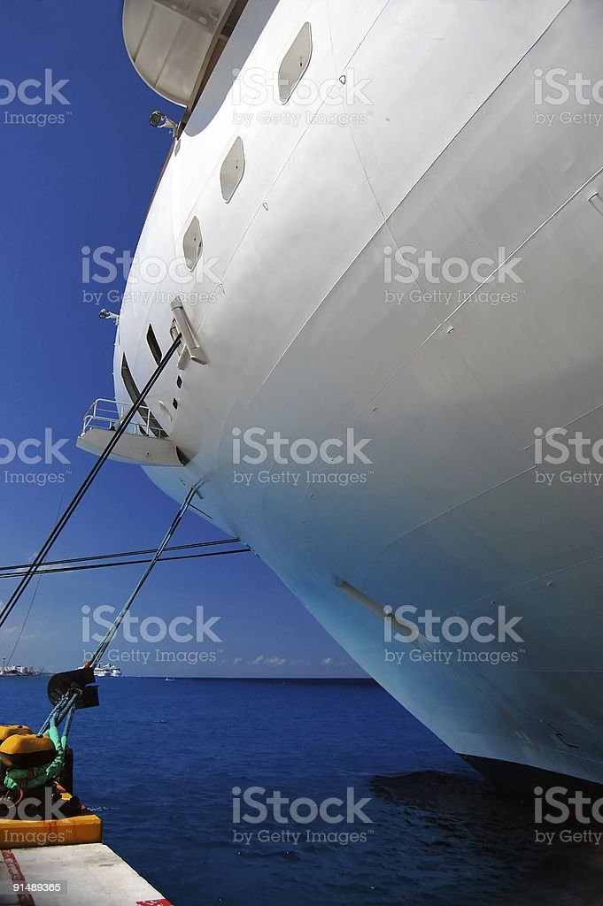 Moored Cruise ship - see more in portfolio royalty-free stock photo