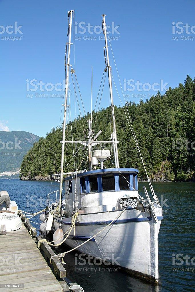 Moored Fishing Boat stock photo