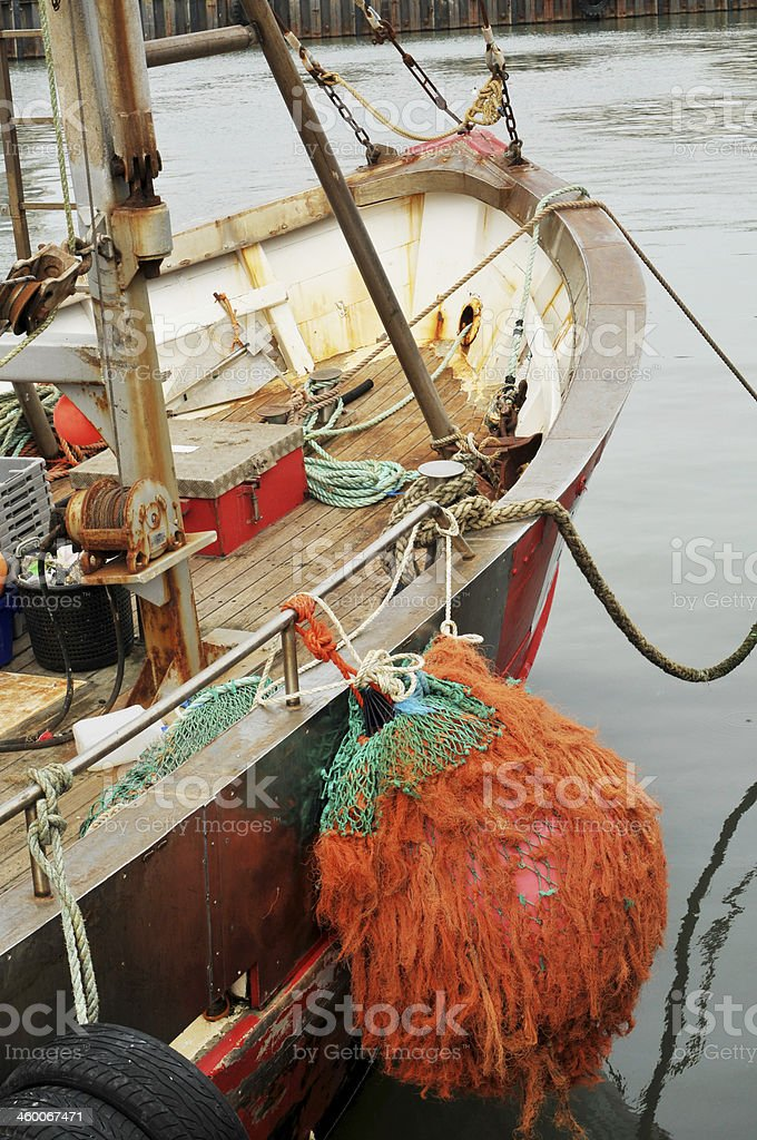 Moored Fishing Boat royalty-free stock photo