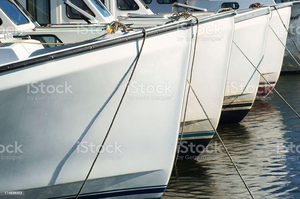 Moored fishing boats, Prince Edward Island. royalty-free stock photo