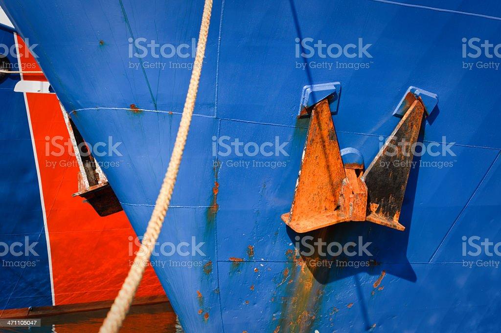 Moored Hulls stock photo