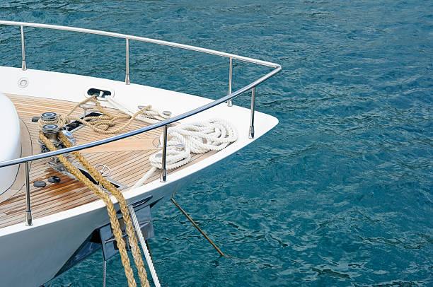 Vertäut motor yacht – Foto