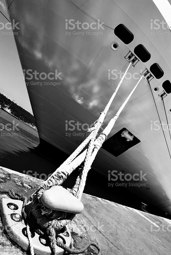 Moored royalty-free stock photo