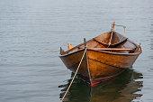 istock Moored row boat 1216414193
