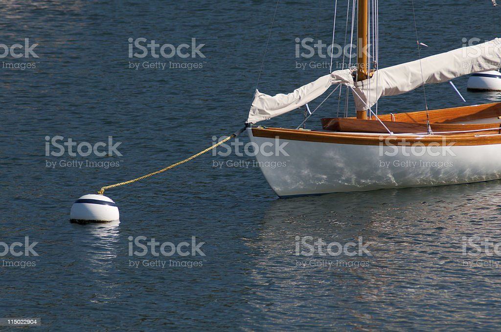 Moored Sailboat royalty-free stock photo