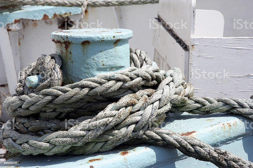 Moored ship royalty-free stock photo