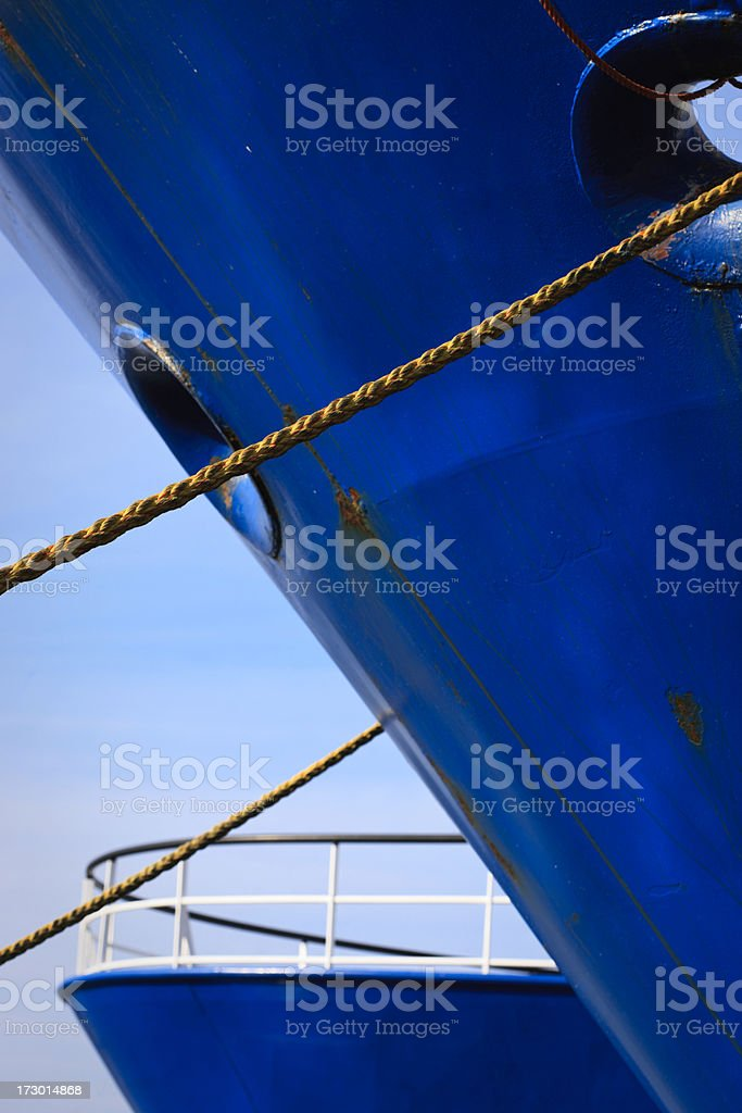 Moored Ships royalty-free stock photo
