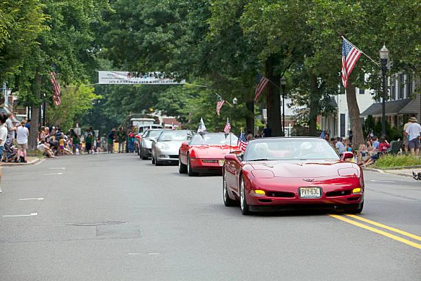 moorestown nj 4 lipca parade corvette club - memorial day zdjęcia i obrazy z banku zdjęć