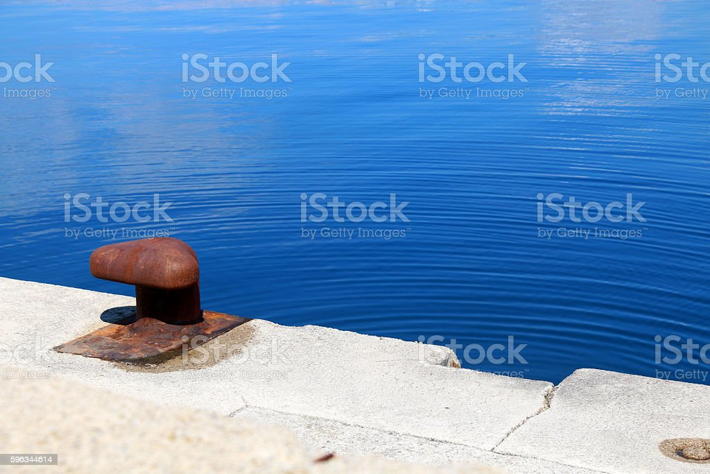 Mooring Bollard royalty-free stock photo