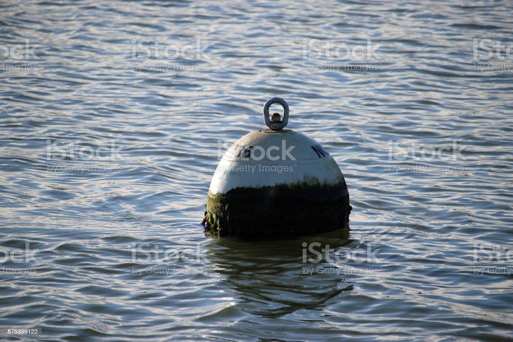 Mooring buoy stock photo