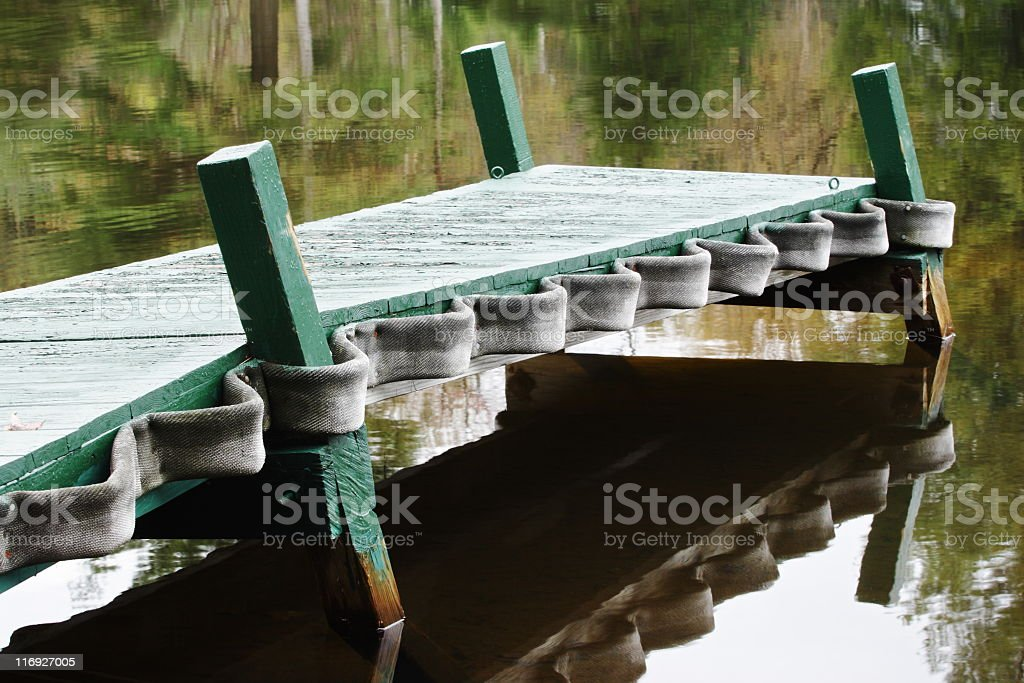 Mooring Dock Bumpers Cleats Reflection royalty-free stock photo