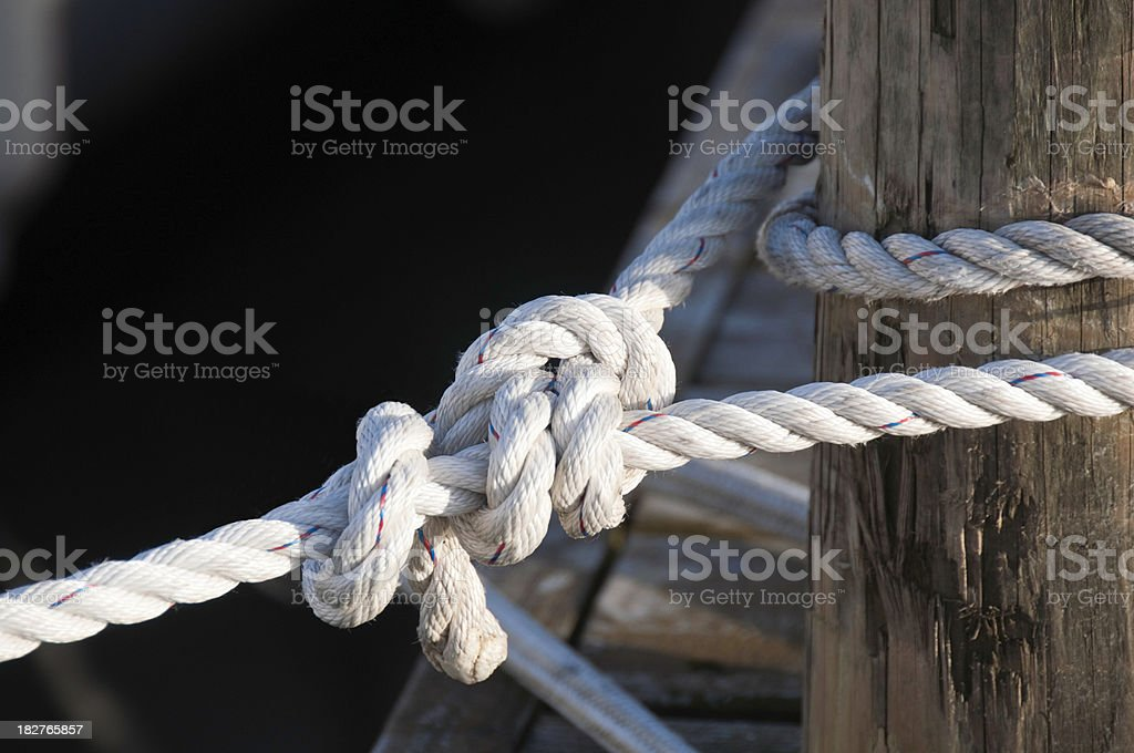 Mooring Line royalty-free stock photo