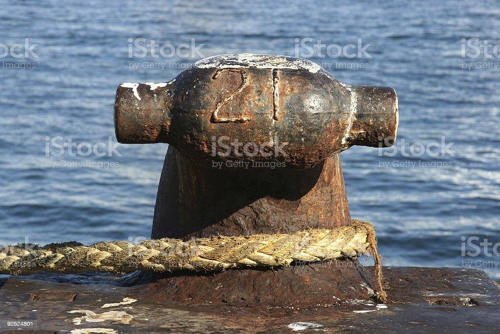 Mooring - Marine Icon royalty-free stock photo