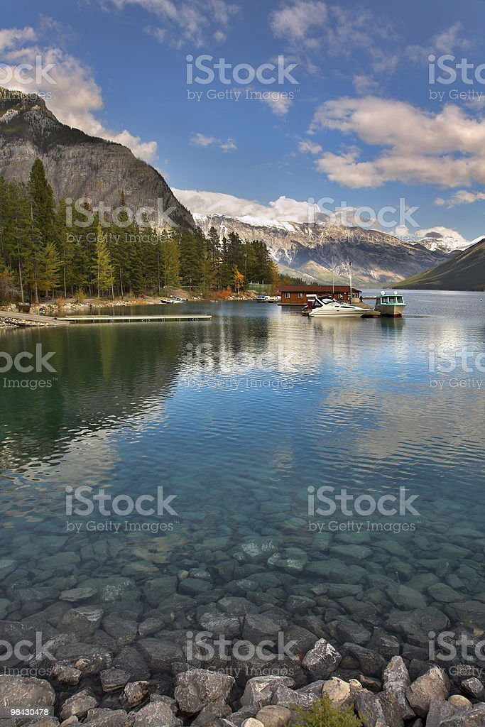 Mooring on lake. royalty-free stock photo