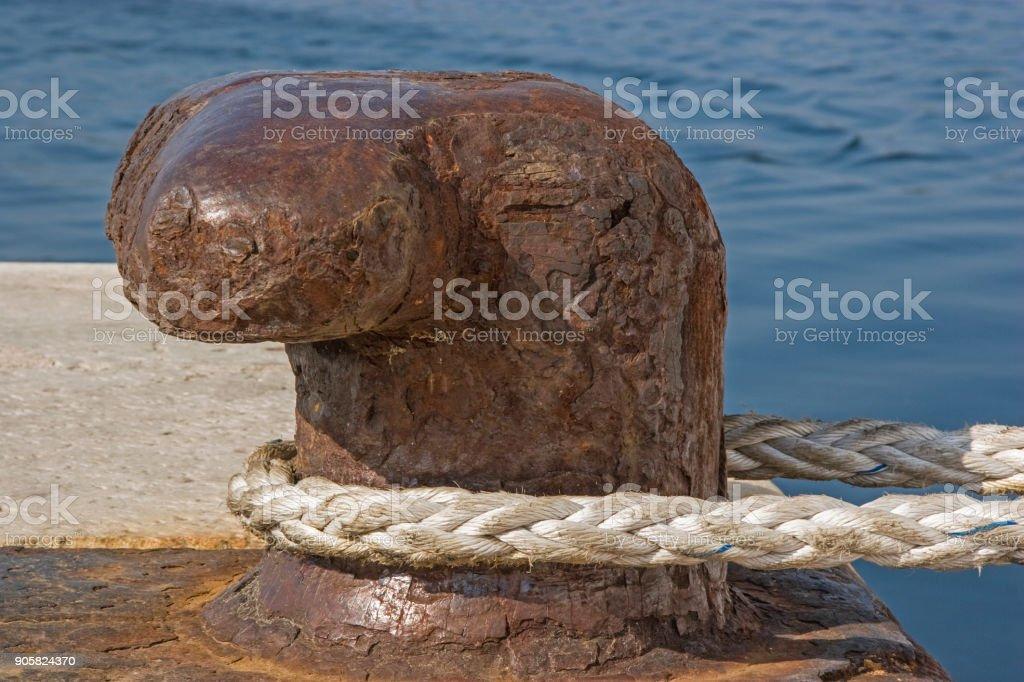 mooring rope at the Boller stock photo