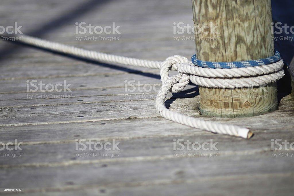 Mooring Seil - Lizenzfrei Anker Stock-Foto