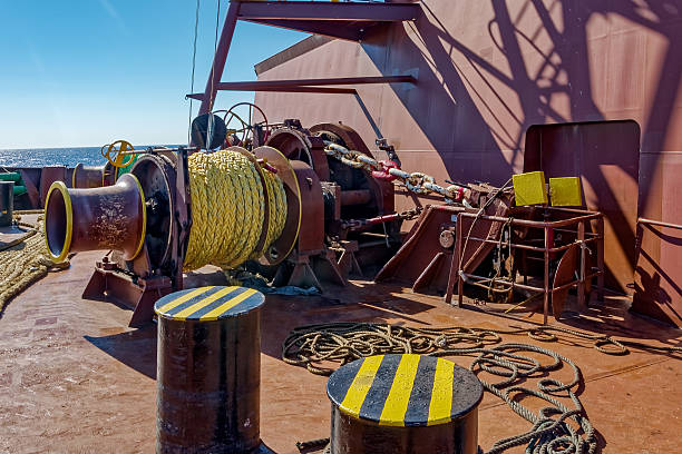 mooring winches - cable winch stock photos and pictures
