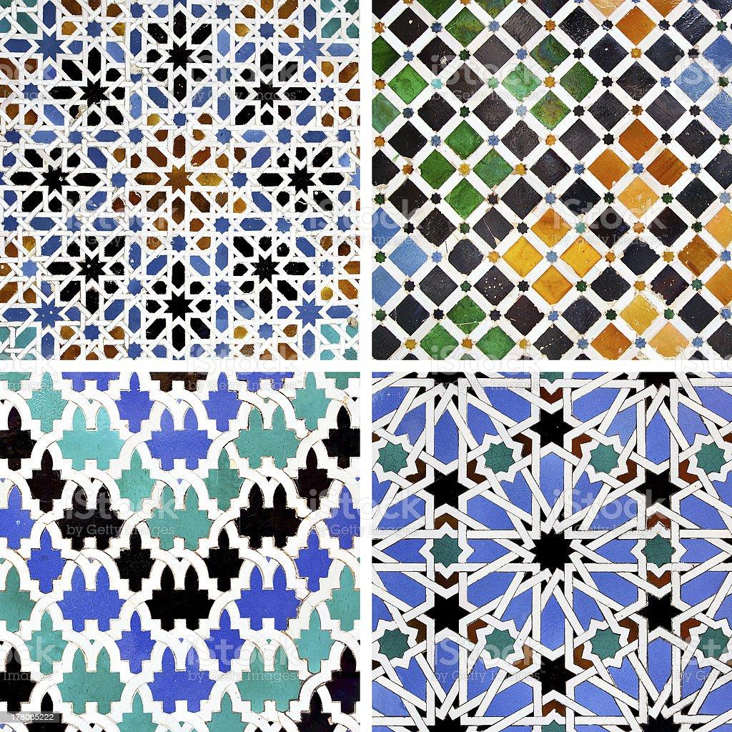 Moorish ceramics royalty-free stock photo