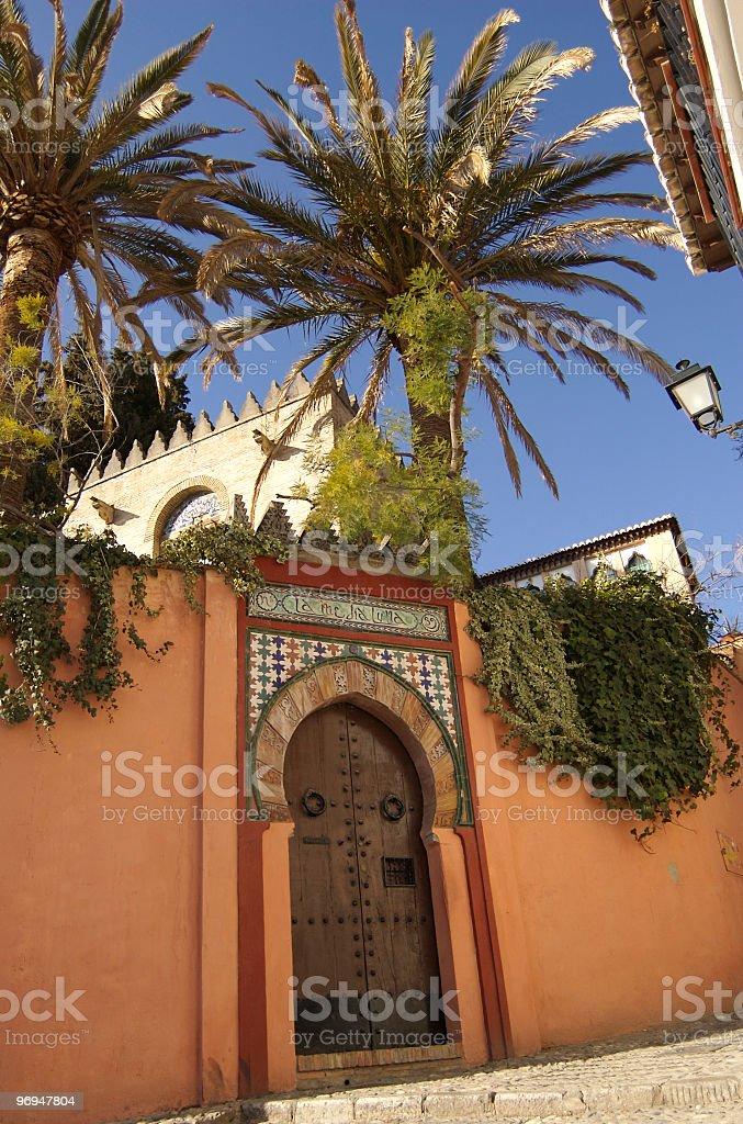 Moorish gate, Albaicin, Granada, Spain royalty-free stock photo