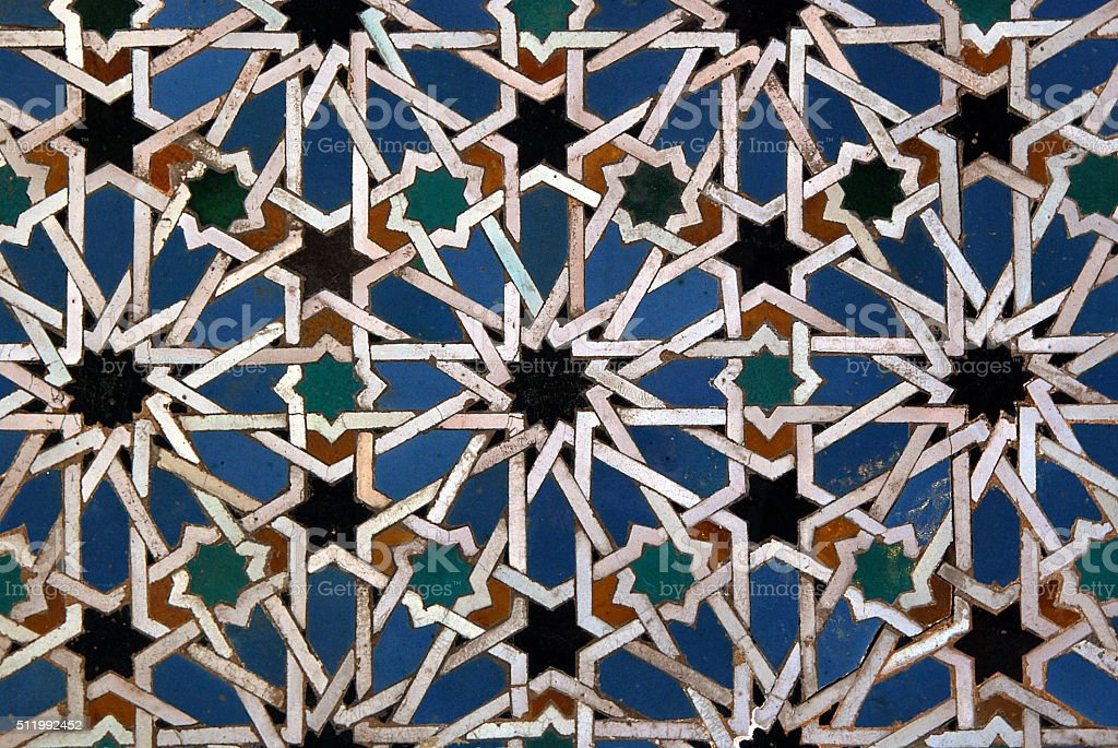 Moorish Mosaic Background Stock Photo - Download Image Now - iStock