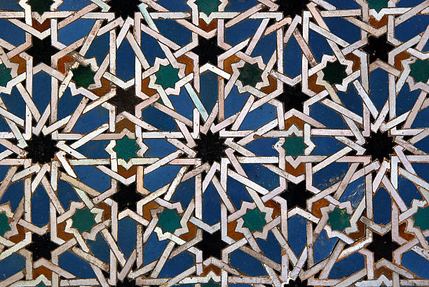 Moorish mosaic background Moorish mosaic background arabic style stock pictures, royalty-free photos & images