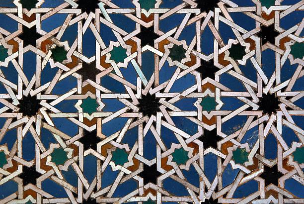 maurischen mosaik hintergrund - arabeske stock-fotos und bilder